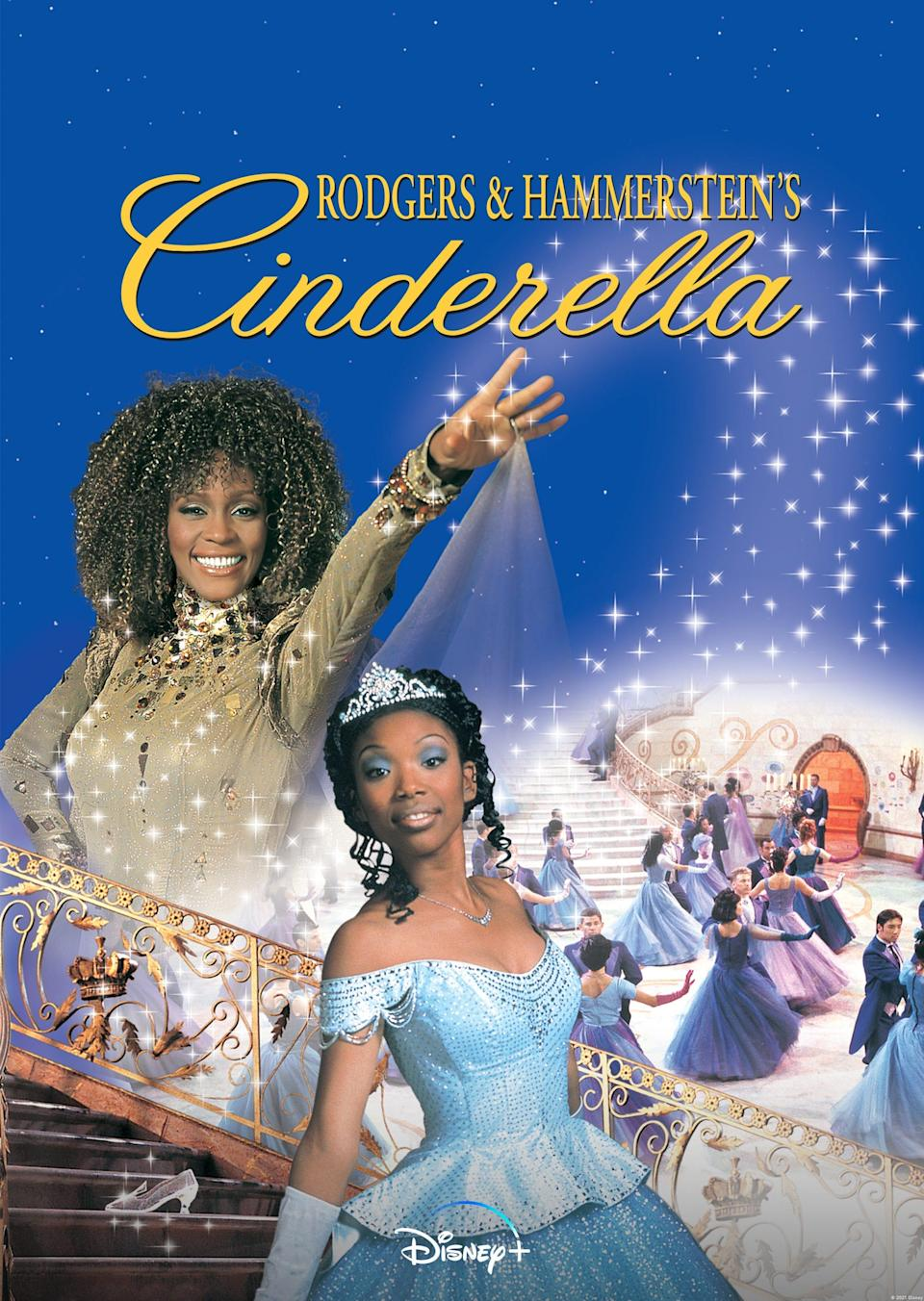 """Rogers and Hammerstein's Cinderella"" starring Brandy Norwood and Whitney Houston is streaming on Disney+ Feb. 12."