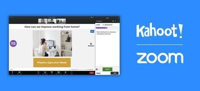 Kahoot! + Zoom integrate to make video conferencing more engaging and fun