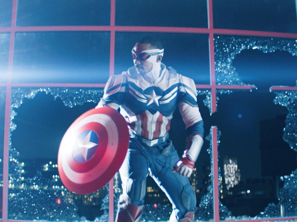 Anthony Mackie as Captain America in The Falcon and the Winter Soldier (Disney Plus)