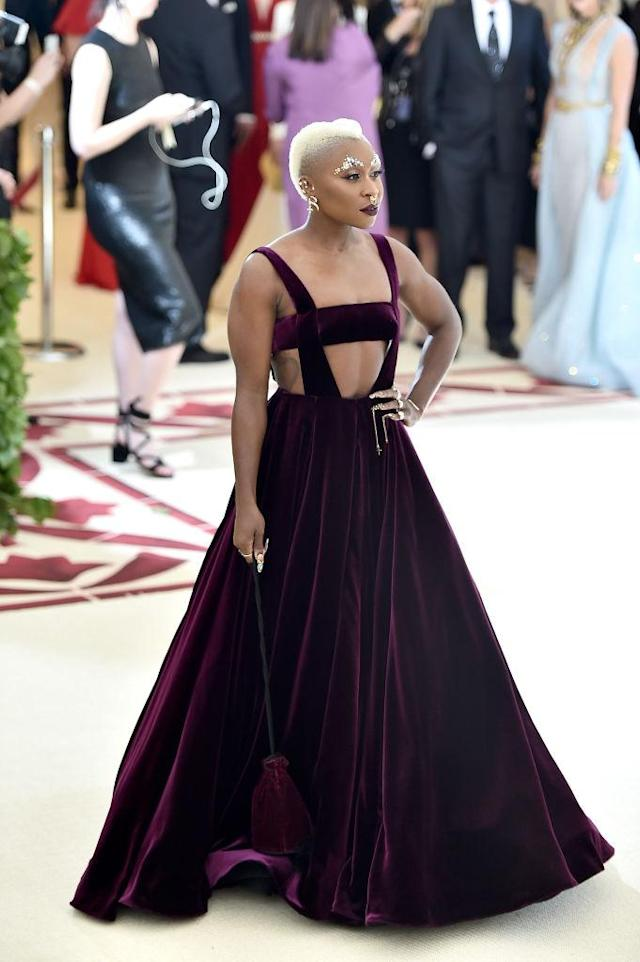 <p>Erivo arguably had the best nail art at the Met Gala. Her nails featured a Sistine Chapel painting honoring women of color. (Photo: Getty Images) </p>