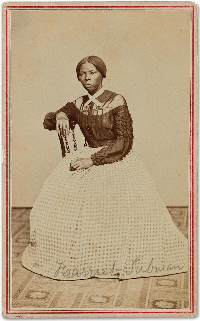This image provided by Swann Auction Galleries shows an undated photograph of Harriet Tubman, the 19th century abolitionist. (Courtesy Swann Auction Galleries via AP)