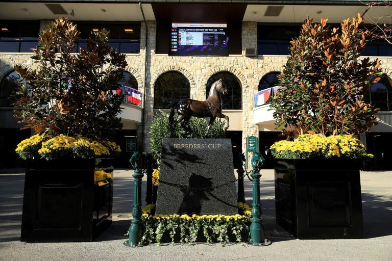 Keeneland racetrack in Lexington, Kentucky, where the second day of the 2020 Breeders' Cup saw Authentic win the $6 million Classic