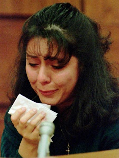 Lorena Bobbitt during her 1994 trial for cutting off her husband John Wayne Bobbitt's penis