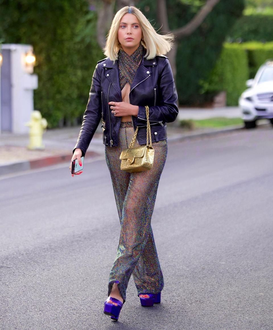 <p>Ashley Benson stands out on June 28 while heading to dinner in West Hollywood.</p>