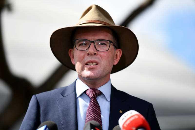 Pictured is NSW Minister for Agriculture Adam Marshall. He has tested positive to Covid-19.