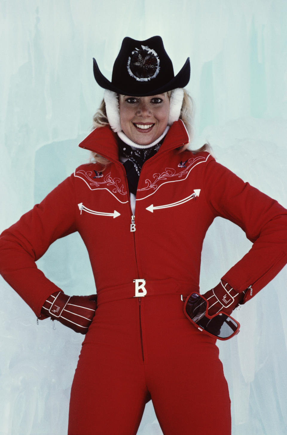 American ice skating champion Lynn-Holly Johnson as Bibi Dahl in the James Bond film 'For Your Eyes Only', 1981. (Photo by Keith Hamshere/Getty Images)