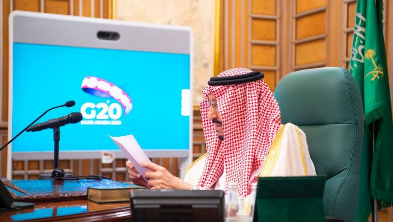 Saudi king to G20: let's unite against coronavirus
