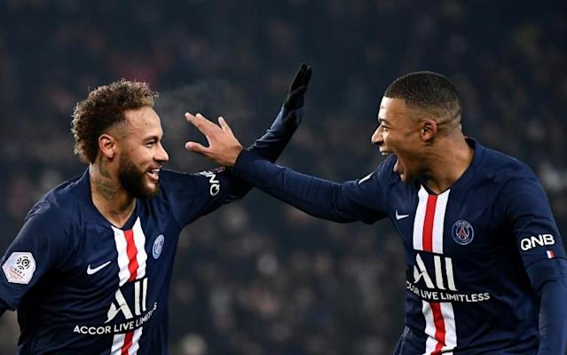 Kylian Mbappe and Neymar both scored on Wednesday against Nantes as they started together for the first time this season (AFP Photo/FRANCK FIFE)
