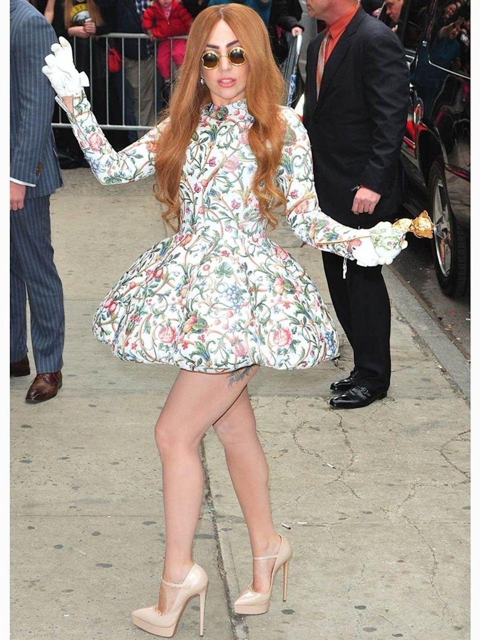 <p>Lady Gaga is seen out and about in New York City.</p>
