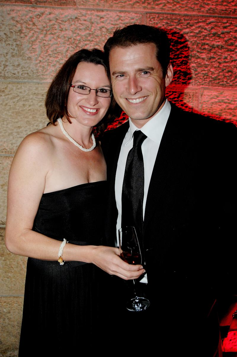 Cassandra Thorburn and Karl Stefanovic attend the Sydney Global Illumination Gala Dinner 2008 in support of the National Breast Cancer Foundation, at the University of Sydney on October 16, 2008 in Sydney, Australia.
