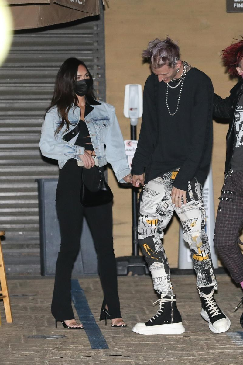 Megan Fox and Machine Gun Kelly head out for dinner in Los Angeles, March 1. - Credit: Photographer Group/MEGA