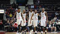 <p>Although Toronto struggled to keep up with the Spurs' pace in the first half, trailing by double digits for the majority of the second quarter, the 905 entered halftime only eight point adrift. (Photo courtesy: Trung Ho) </p>