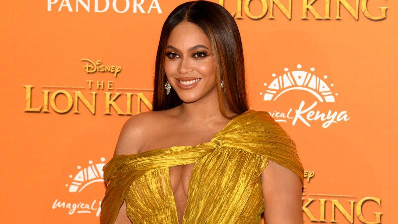 """Beyonce Knowles-Carter attends the European Premiere of Disney's """"The Lion King"""" on July 14, 2019 in London, England."""