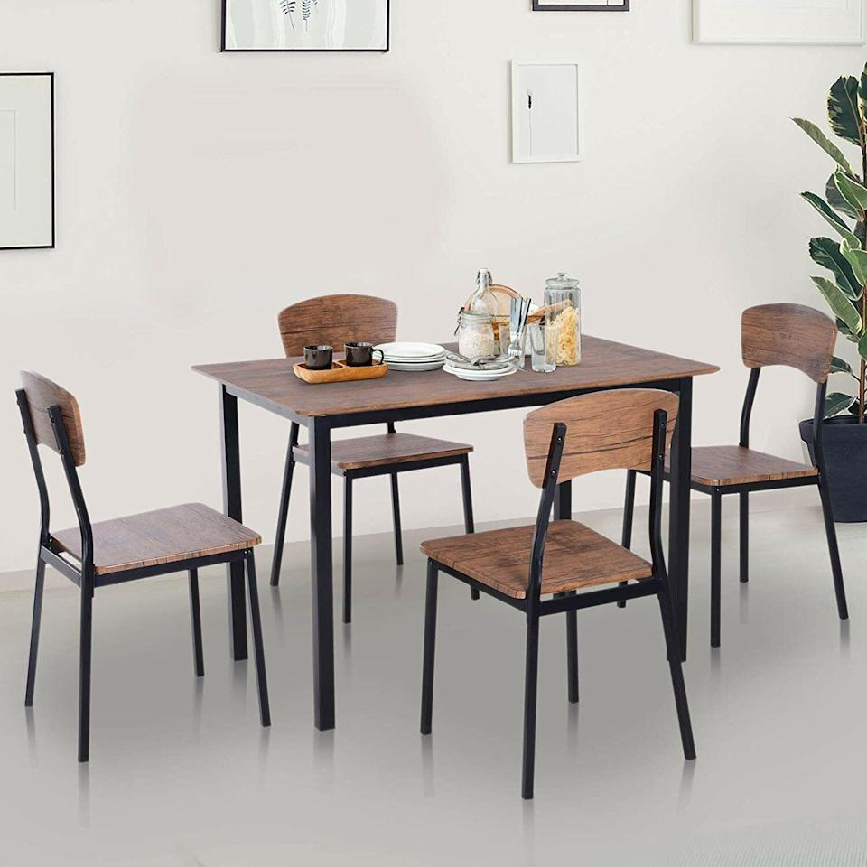 <p>This <span>Union Rustic Castellanos 4-Person Dining Set</span> ($208, originally $267) will be at the heart of your gatherings. It features smooth rounded edges and sleek legs for a functional and elegant look.</p>