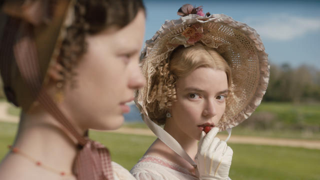 For those without much love for fleet-footed mammals, there's a Jane Austen adaptation making its way into cinemas also. Anya Taylor-Joy plays the title character in this classic satire of class. (Credit: Focus Features)