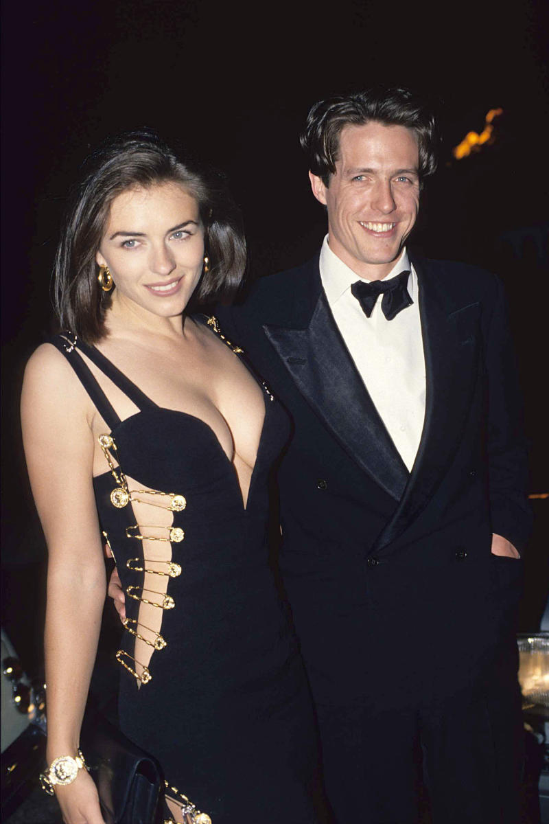 Elizabeth Hurley and Hugh Grant during Hugh Grant with Elizabeth Hurley Archive Images in London, Great Britain. (Photo by Fred Duval/FilmMagic)