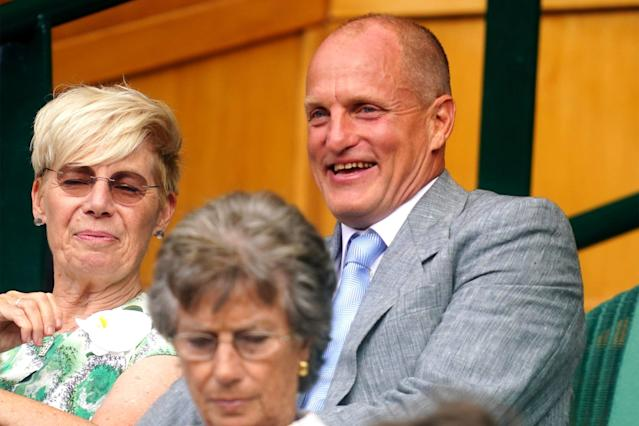 Woody Harrelson had the time of his life at Wimbledon, and the internet is here for it