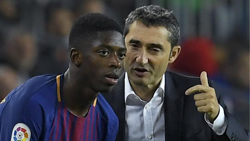caf77aeb9dc Dembele notches assist after making Barcelona debut as substitute