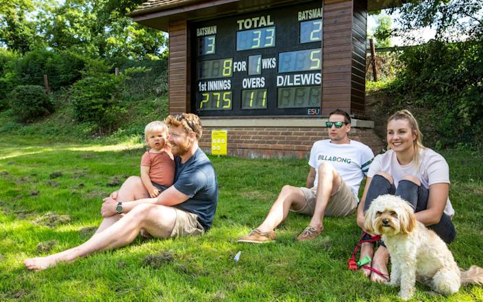 Onlookers watch the Henley V Wargrave friendly Home Counties Division match - Jeff Gilbert