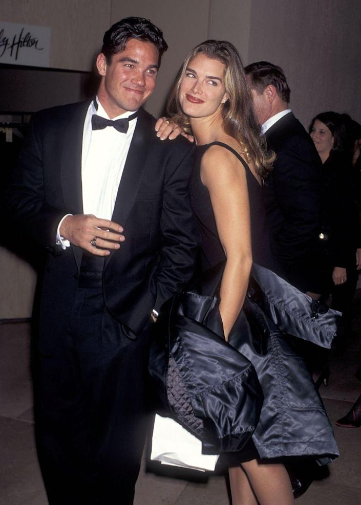 """<p>The actors initially met on the beautiful campus of Princeton University, and a beautiful romance eventually blossomed between them as they studied at the Ivy League institution. """"I was in love with her certainly. We were college sweethearts,"""" Cain <a href=""""https://www.eonline.com/news/604230/dean-cain-speaks-candidly-about-having-sex-with-america-s-virgin-brooke-shields"""" rel=""""nofollow noopener"""" target=""""_blank"""" data-ylk=""""slk:said"""" class=""""link rapid-noclick-resp"""">said</a> on an episode of the <em>Meredith Vieira Show</em> in 2014. """"We truly had a wonderful relationship. We were two young people, and we cared for each other."""" </p>"""
