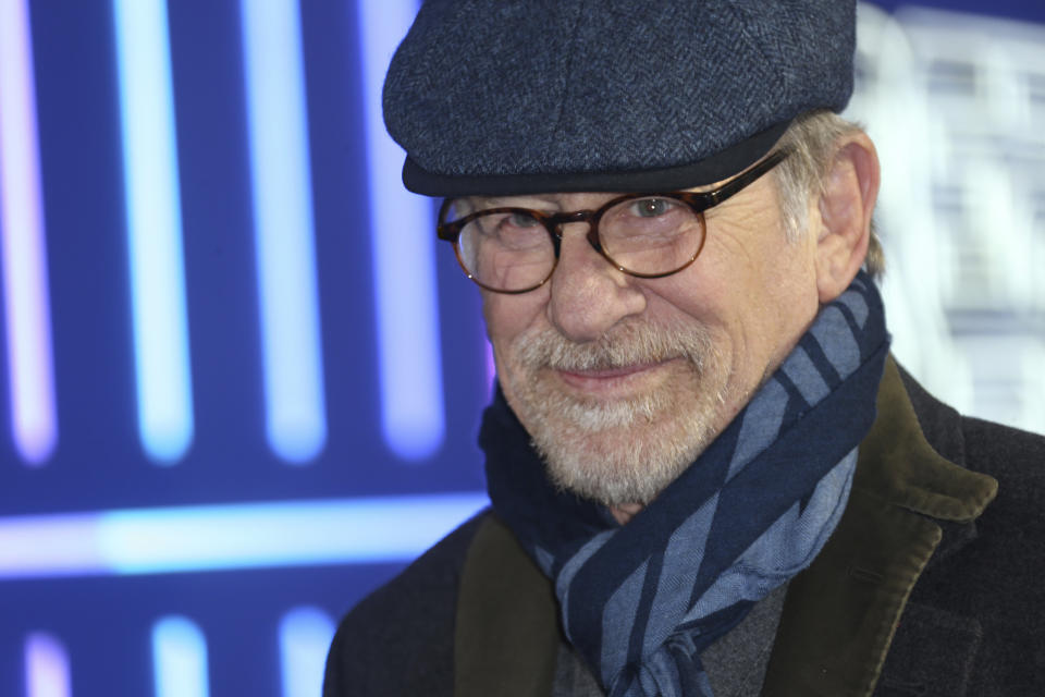 Director Steven Spielberg poses for photographers upon arrival at the premiere of the film 'Ready Player One' in London, Monday, March 19, 2018. (Photo by Joel C Ryan/Invision/AP)