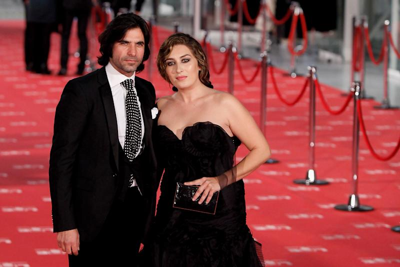 MADRID, SPAIN - FEBRUARY 19: (L-R) Javier Conde and Estrella Morente arrives to Goya Cinema Awards 2012 ceremony, at the Palacio Municipal de Congresos on February 19, 2012 in Madrid, Spain. (Photo by Pablo Blazquez Dominguez/Getty Images)