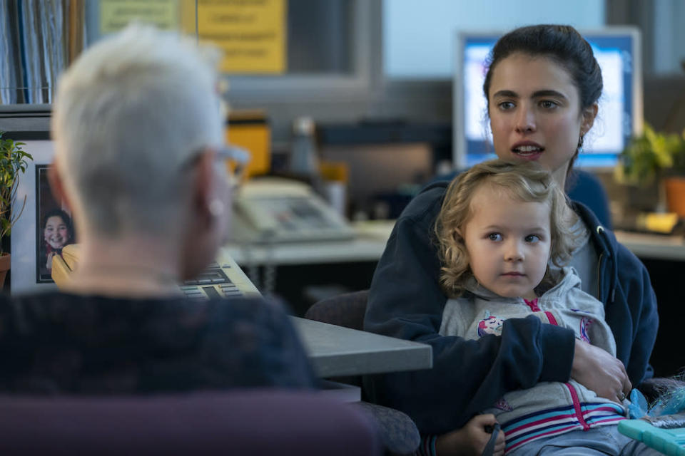 """Rylea Nevaeh Whittet and Margaret Qualley in """"Maid"""" - Credit: Ricardo Hubbs / Netflix"""