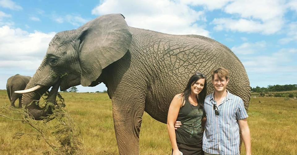 Tiaan and Samantha Treurnicht in South Africa visiting in December.