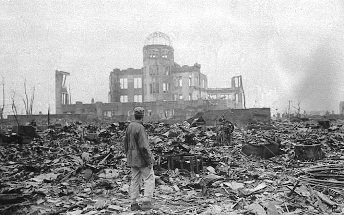 The bomb took an estimated 80,000 lives in the force of a single explosion - STANLEY TROUTMAN/AP
