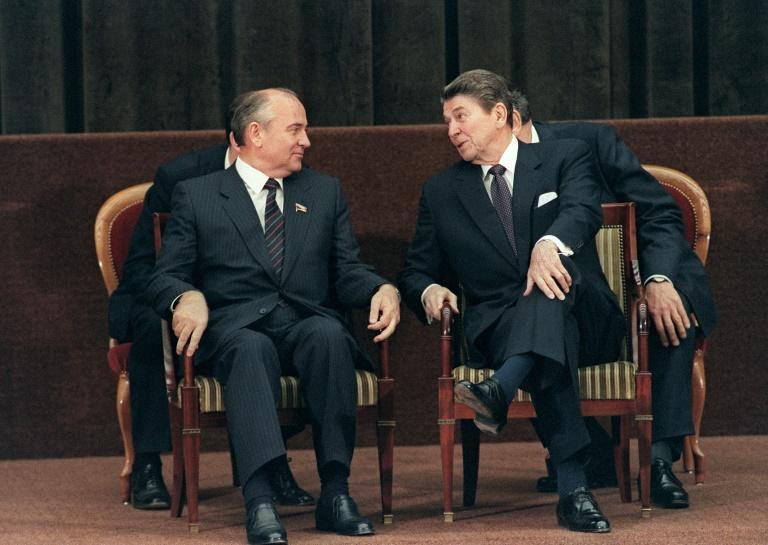 The meeting between US President Ronald Reagan and Soviet leader Mikhail Gorbachev in November 1985 led to a thawing of relations between the two superpowers