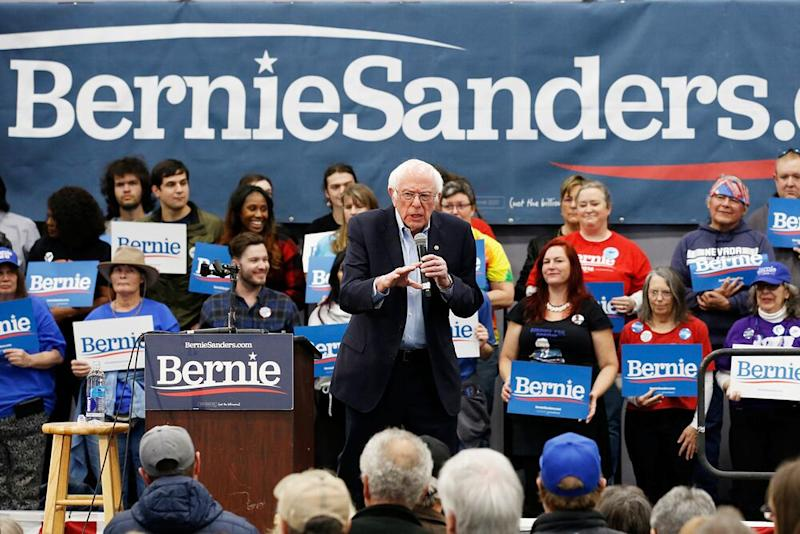 Democratic presidential candidate Sen. Bernie Sanders speaks at a campaign event in Carson City, Nevada on Sunday. | Rich Pedroncelli/AP/Shutterstock