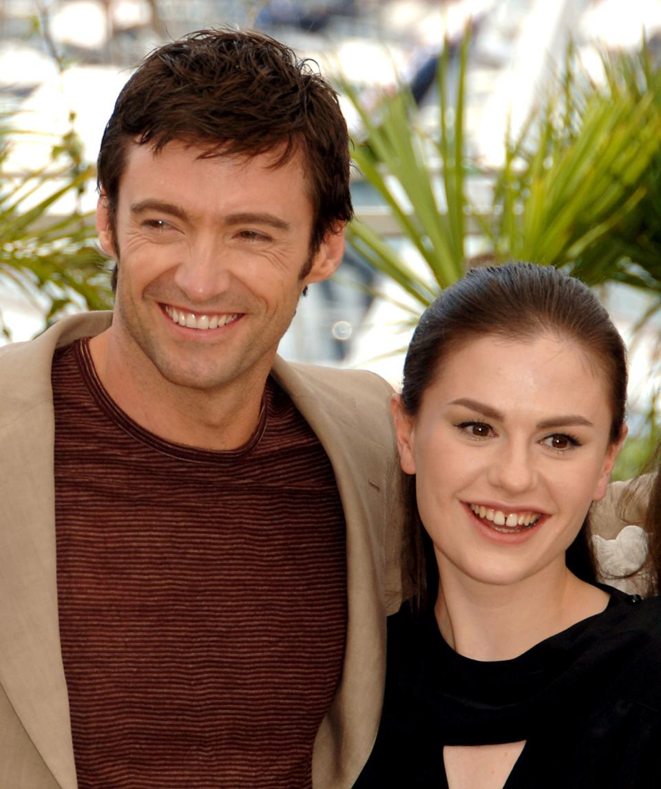 Hugh Jackman and Anna Paquin at the Palais des Festival Terrace in Cannes, France. (Photo by George Pimentel/WireImage)