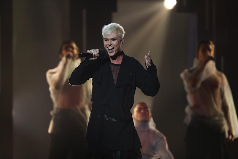Jack Vidgen performs during Eurovision - Australia Decides at Gold Coast Convention and Exhibition Centre on February 08, 2020 in Gold Coast, Australia. (Photo by Chris Hyde/Getty Images)