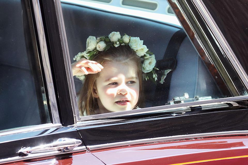 Princess Charlotte wore Givenchy like the bride. (Photo: Chris Jackson/Getty Images)