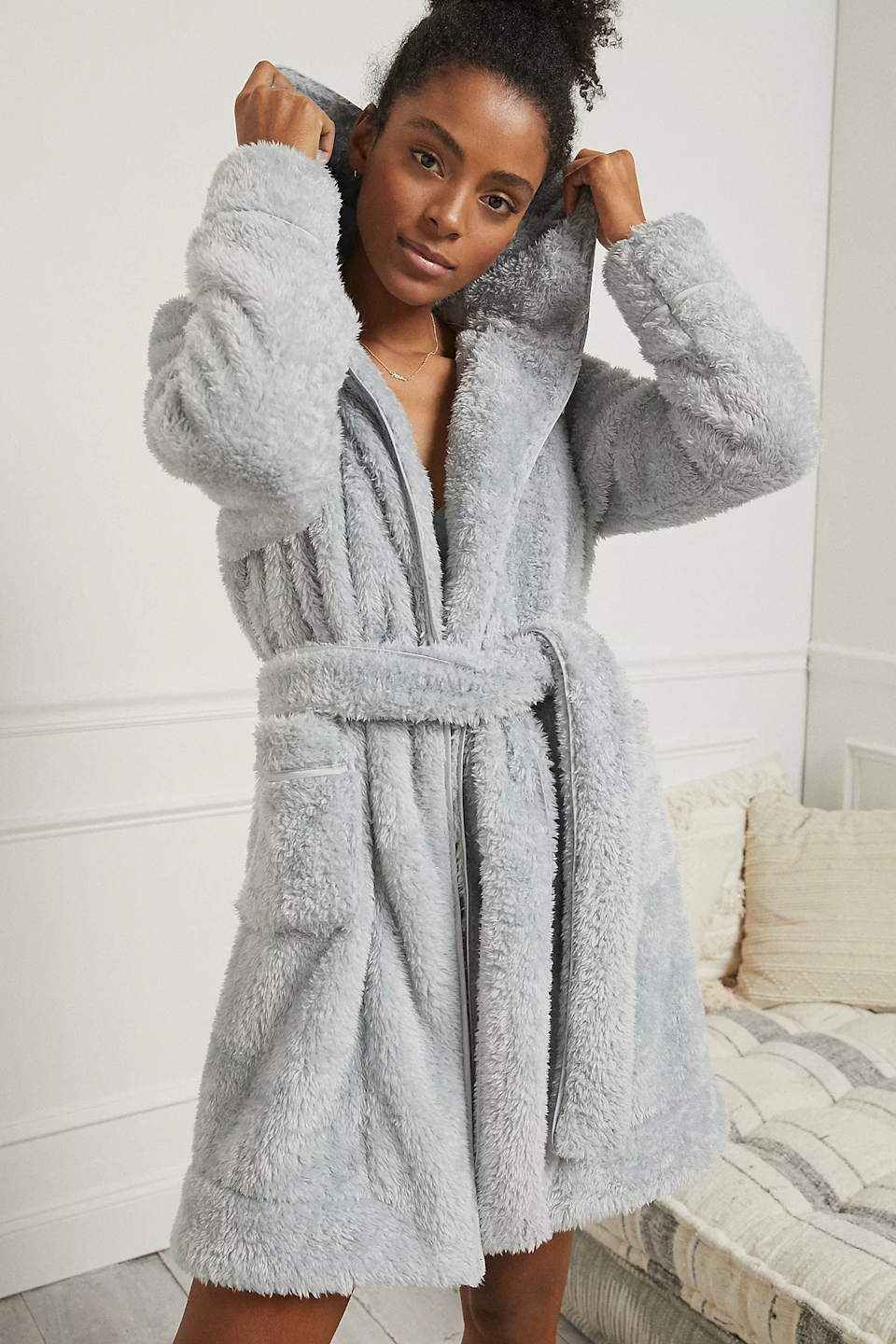 """<h3>Eri + Ali Sherpa Hooded Robe</h3><br>This highly rated sherpa robe is not only on super sale, but is getting rave reviews due to its super soft and cozy nature. <br><br><strong>Eri + Ali</strong> Hooded Sherpa Robe, $, available at <a href=""""https://go.skimresources.com/?id=30283X879131&url=https%3A%2F%2Fwww.anthropologie.com%2Fshop%2Fprudence-hooded-sherpa-robe"""" rel=""""nofollow noopener"""" target=""""_blank"""" data-ylk=""""slk:Anthropologie"""" class=""""link rapid-noclick-resp"""">Anthropologie</a>"""