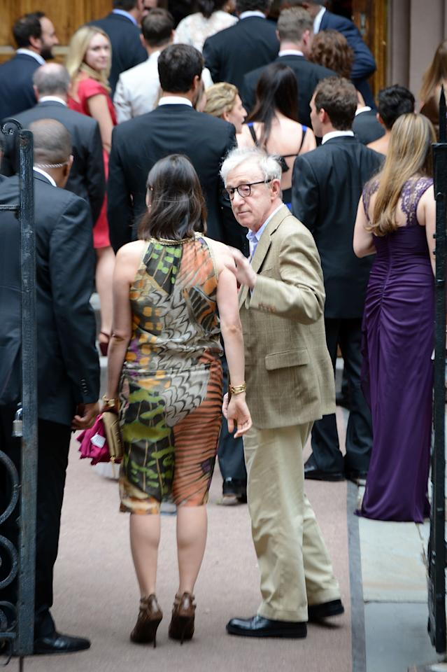NEW YORK, NY - JUNE 30:  Woody Allen attends Alec Baldwin and Hilaria Thomas' wedding ceremony at St. Patrick's Old Cathedral on June 30, 2012 in New York City.  (Photo by Andrew H. Walker/Getty Images)