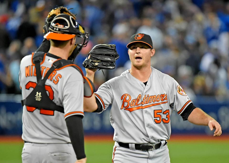 Zach Britton (right) was a perfect 47 for 47 in save opportunities during the regular season. (USA Today)