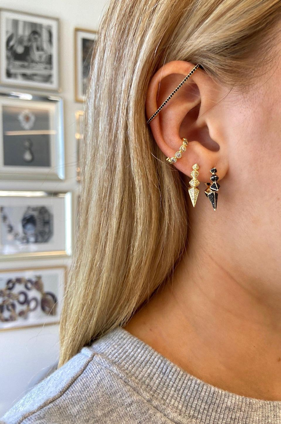<p>If they like their jewelry to have a little edge, they'll be obsessed with these <span>Melinda Maria Gabriella Spiked Hoop Earrings</span> ($78).</p>