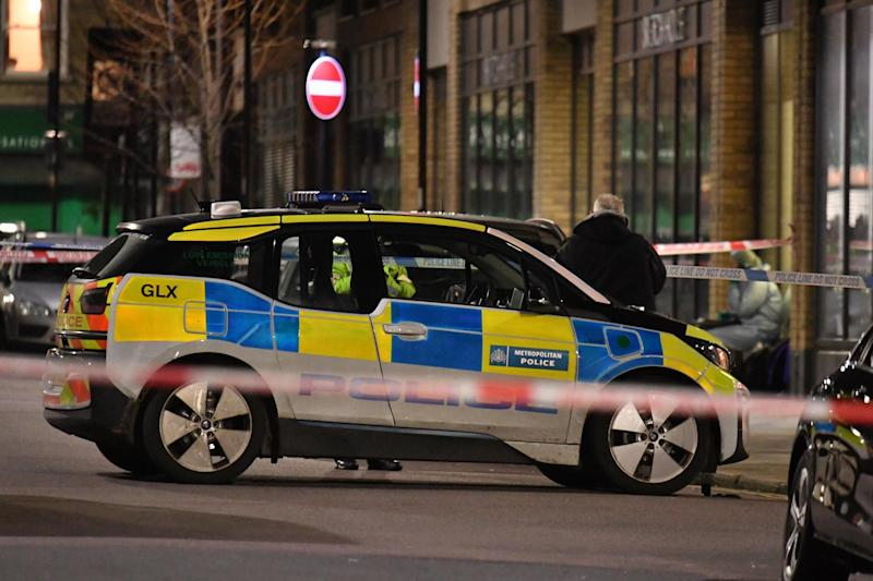 Police at the scene of a stabbing in Finsbury Park earlier this month (PA Wire/PA Images)