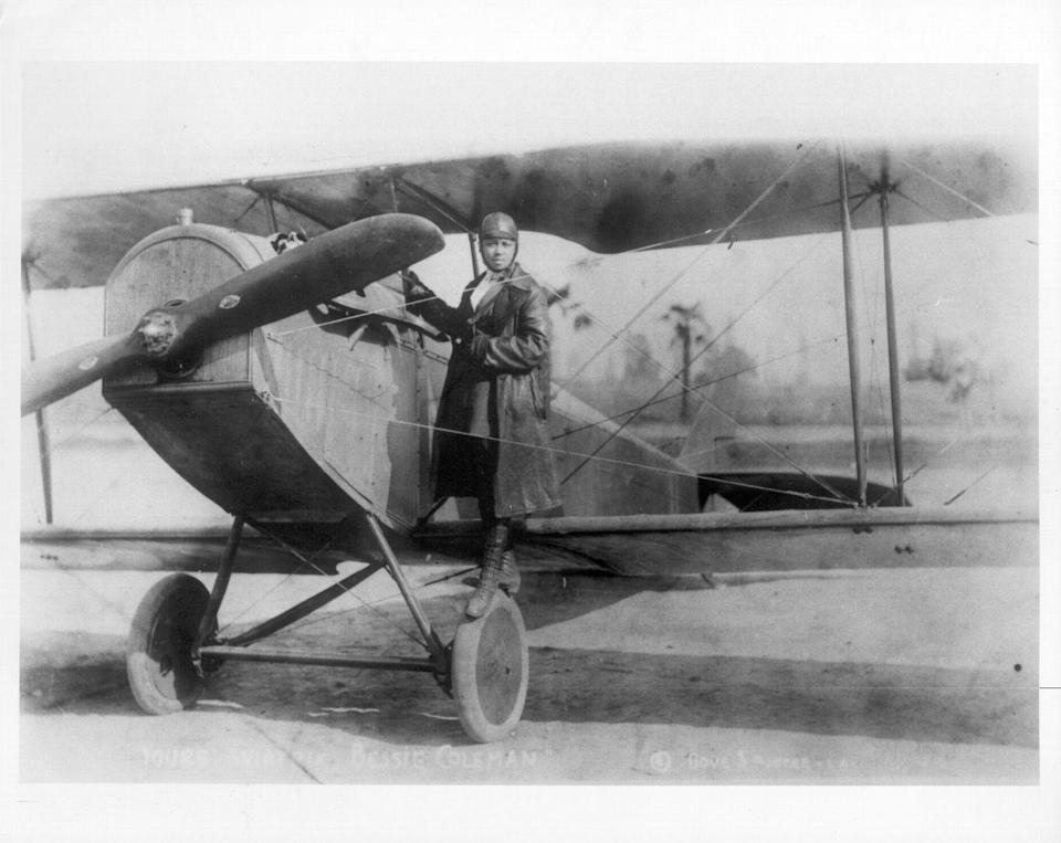 """<p>Despite being the <a href=""""https://insider.si.edu/2018/02/bessie-coleman-first-black-aviator/"""" rel=""""nofollow noopener"""" target=""""_blank"""" data-ylk=""""slk:first licensed Black pilot"""" class=""""link rapid-noclick-resp"""">first licensed Black pilot</a> in the world, Coleman wasn't recognized as a pioneer in aviation until after her death. Though history has favored Amelia Earhart or the Wright brothers, Coleman—who went to flight school in France in 1919—paved the way for a new generation of diverse fliers like the Tuskegee airmen, Blackbirds, and Flying Hobos.</p>"""