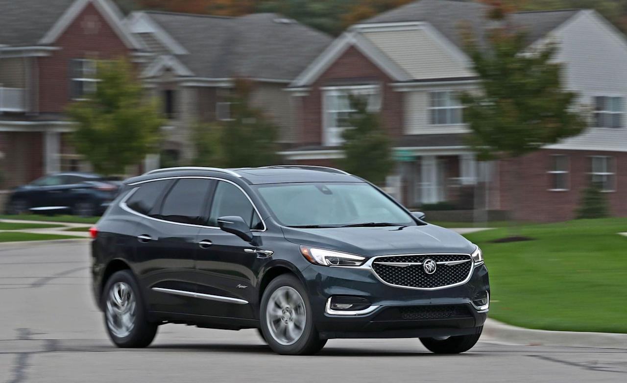 "<p><strong>Buick's American Models</strong></p><p>• <a rel=""nofollow"" href=""https://www.caranddriver.com/buick/enclave"">Enclave</a></p><p>• <a rel=""nofollow"" href=""https://www.caranddriver.com/buick/lacrosse"">LaCrosse</a></p>"
