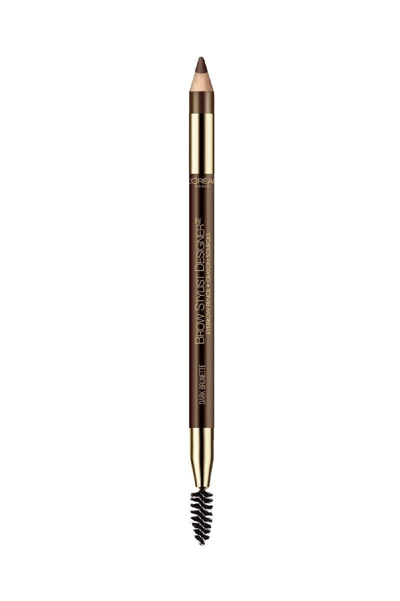 Double-sided with a soft crayon tip on one end and a perfect-for-feathering brush on the other, L'Oréal's Brow Stylist Designer Eyebrow Pencil ($8) is an affordable solution for full, albeit completely au natural-looking brows.