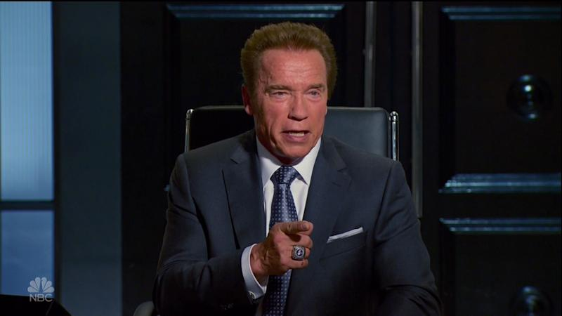 Arnold Schwarzenegger on 'Celebrity Apprentice' (credit: NBC)