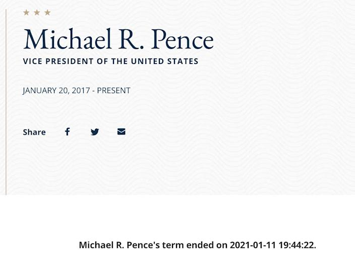 Mike Pence US State Department