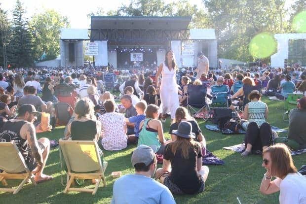 The Calgary Folk Fest, pictured here in 2016, is usually held in late July at Prince's Island Park.