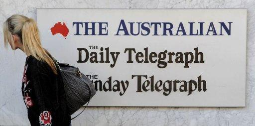 Murdoch's Australian arm, News Ltd, controls 70 percent of the country's newspapers