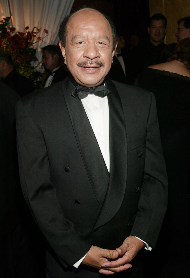 "NEW YORK - NOVEMBER 02: (U.S. TABS AND HOLLYWOOD REPORTER OUT) Sherman Hemsley attends the cocktail party for the ""CBS at 75"" television gala at the Hammerstein Ballroom November 02, 2003 in New York City. (Photo by Evan Agostini/Getty Images)"