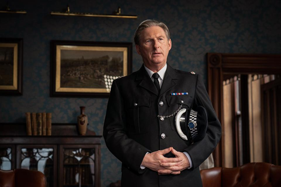 WARNING: Embargoed for publication until 00:00:01 on 30/03/2021 - Programme Name: Line of Duty S6 - TX: n/a - Episode: Line Of Duty - Ep 3 (No. n/a) - Picture Shows:  Superintendent Ted Hastings (ADRIAN DUNBAR) - (C) World Productions - Photographer: Chris Barr