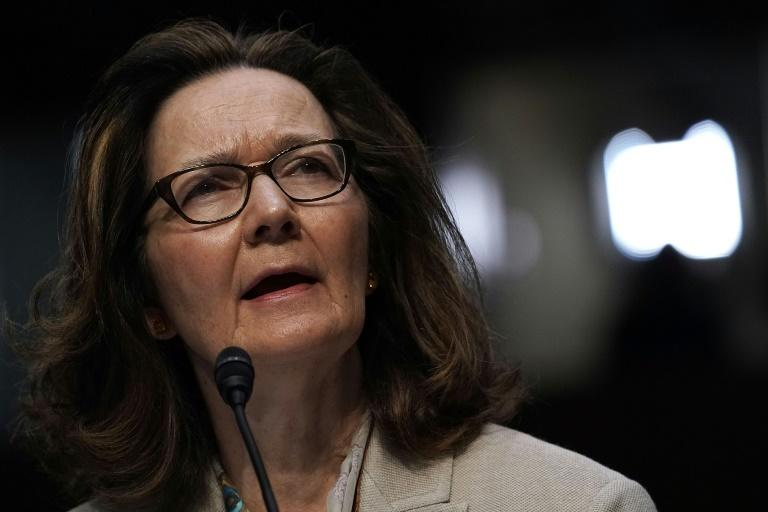Gina Haspel speaks during her confirmation hearing as CIA director in May 2018