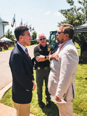 Tennessee Congressman David Kustoff talks with Discovery Park of America's CEO Scott Williams about a new Ag exhibit planned to open in October of 2020. The exhibit entitled: